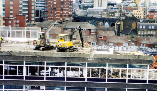 Orbit House demolition ca. 2000. NSCGA collections